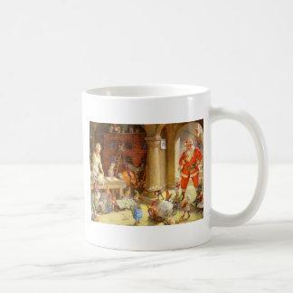 Mrs. Claus & Santas Elves baking Christmas Cookies Coffee Mug
