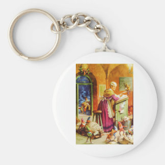 Mrs. Claus & The Elves at the North Pole Keychain