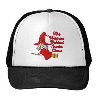mrs claus trucker hat