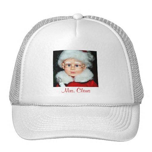 Mrs claus trucker hat zazzle