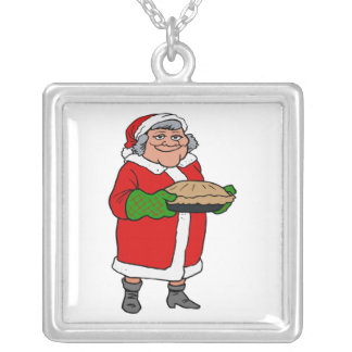 mrs claus with a pie jewelry