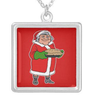 mrs claus with a pie custom jewelry