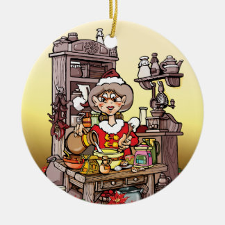Mrs. Clause Baked Cookies Christmas Ornament