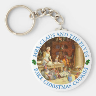 Mrs. Clause & the Elves Bake Christmas Cookies Keychain