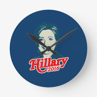 MRS. CLINTON FOR PRESIDENT 2016 ROUND CLOCK