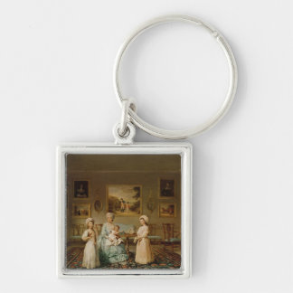 Mrs Congreve and her children Keychains