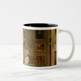 Mrs Congreve and her children Two-Tone Coffee Mug