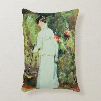 Mrs Constable in her Garden Decorative Pillow