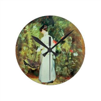 Mrs Constable in her Garden Round Clock