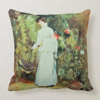 Mrs Constable in her Garden Throw Pillow