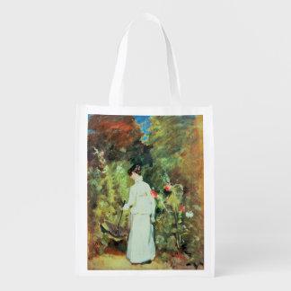 Mrs Constable in her Garden Grocery Bag
