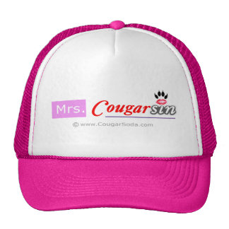 Mrs. Cougarsin (Pink & Red Logo) Hats