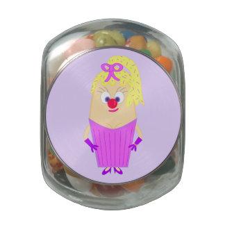 Mrs Cupcake Glass Jar