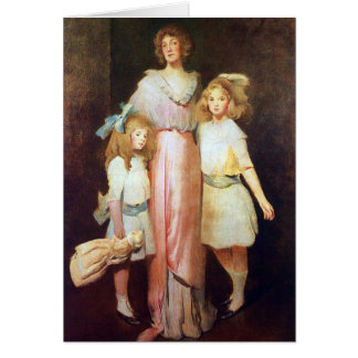 Mrs. Daniels with Two Children Card