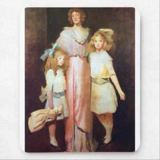 Mrs. Daniels with Two Children Mouse Pad