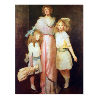 Mrs. Daniels with Two Children Postcards