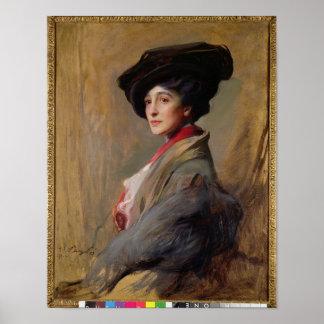 Mrs David Beatty, later the Countess Beatty Poster