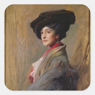Mrs David Beatty, later the Countess Beatty Square Sticker