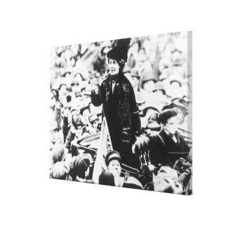 Mrs Emmeline Pankhurst  Addressing a Crowd Stretched Canvas Prints