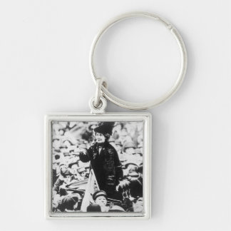 Mrs Emmeline Pankhurst  Addressing a Crowd Keychain