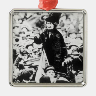 Mrs Emmeline Pankhurst  Addressing a Crowd Ornaments