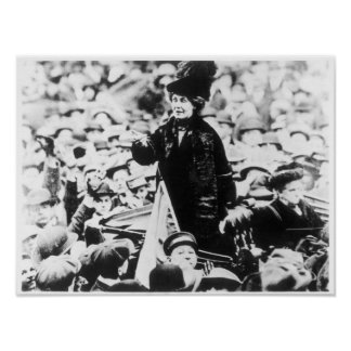 Mrs Emmeline Pankhurst  Addressing a Crowd Poster