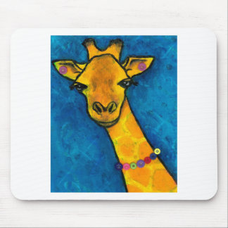 Mrs. Fancy Giraffe Mouse Pad