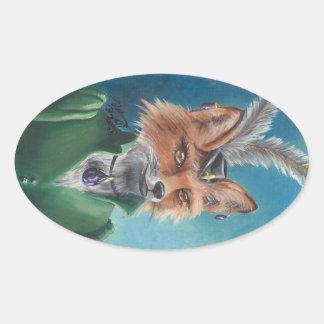 Mrs. Fox Sticker Fox in Clothes Victorian Fox