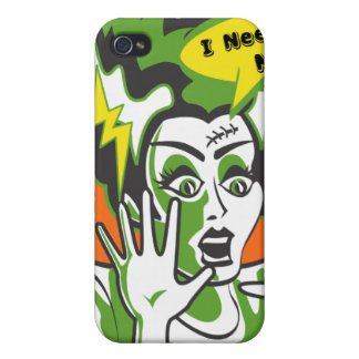 Mrs Frankenstein Needs a Manicure Cover For iPhone 4