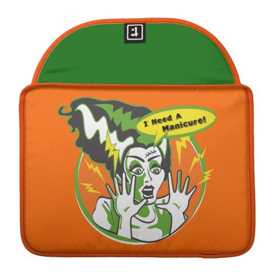 Mrs Frankenstein Needs a Manicure MacBook Pro Sleeve