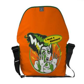 Mrs Frankenstein Needs a Manicure Messenger Bag