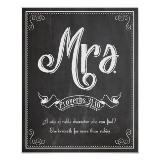 Mrs from the Mr. and Mrs. series Print