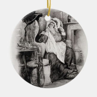 Mrs Gamp, from 'Charles Dickens: A Gossip about hi Ceramic Ornament