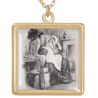 Mrs Gamp, from 'Charles Dickens: A Gossip about hi Gold Plated Necklace
