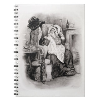 Mrs Gamp, from 'Charles Dickens: A Gossip about hi Notebook