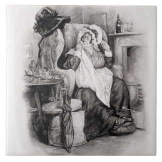 Mrs Gamp, from 'Charles Dickens: A Gossip about hi Tile