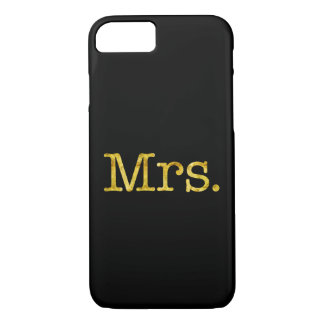 Mrs Gold Faux Glitter Metallic Inspirational Quote iPhone 7 Case