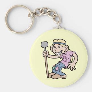 Mrs. Greentees Basic Round Button Keychain