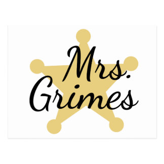 Mrs Grimes Postcard