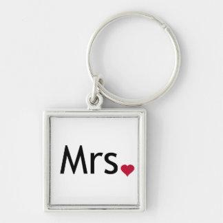 Mrs  - half of Mr and Mrs set Key Chains