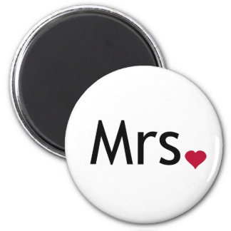 Mrs  - half of Mr and Mrs set Magnets