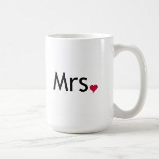 Mrs  - half of Mr and Mrs set Mugs