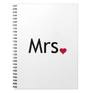 Mrs  - half of Mr and Mrs set Notebook