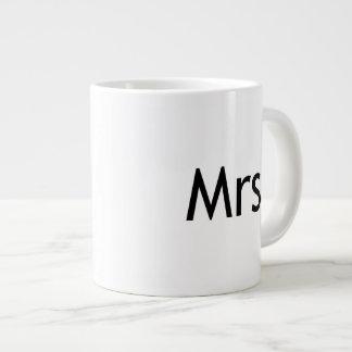 Mrs  - half of Mr and Mrs set Jumbo Mug