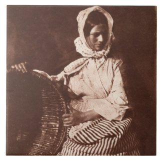 Mrs Hall, Newhaven, c.1843-47 (salt paper print fr Ceramic Tile