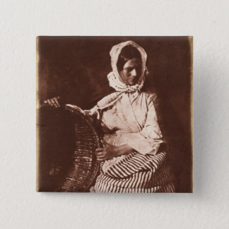 Mrs Hall, Newhaven, c.1843-47 (salt paper print fr Pinback Button