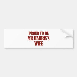 Mrs Harris designs Car Bumper Sticker
