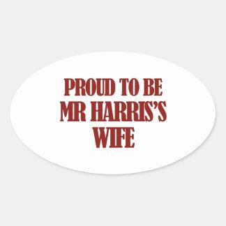 Mrs Harris designs Oval Sticker