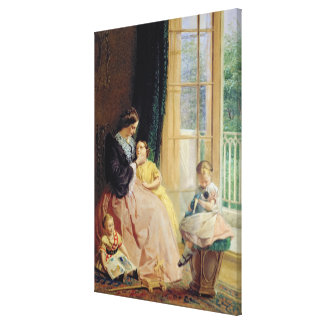 Mrs. Hicks, Mary, Rosa and Elgar Canvas Print