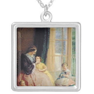 Mrs. Hicks, Mary, Rosa and Elgar Silver Plated Necklace